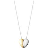 Georg Jensen Hearts Necklace - Silver/Gold