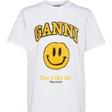 Ganni Basic Cotton Jersey T-shirt - Smiley Yellow