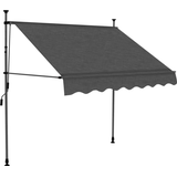 vidaXL Manual Retractable Awning with LED 150cm