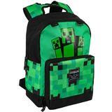 "Rygsæk Minecraft 17"" Creeper Fatigued Again Backpack - Green"