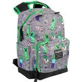 "Rygsæk Minecraft 17"" Overworld All Over Backpack - Grey/Green"