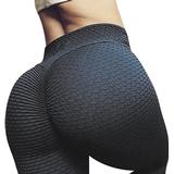 High Waist Yoga Pants - Black