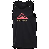 Tank Tops Nike Rise 365 Trail Running Tank Top Men - Black/Laser Crimson