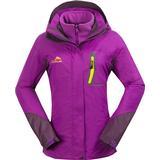 Softshelljakke Cikrilan Hiking 3-in-1 Jackets Women - Purple