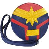 Tasker Marvel Captain Marvel Faux Leather Shoulder Bag - Blue