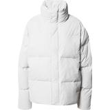 Rains puffer jacket Dametøj Rains Boxy Puffer Jacket - Off White