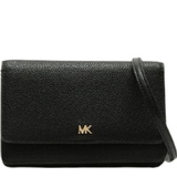 Tasker Michael Kors Pebbled Leather Phone Case Crossbody Bag - Black