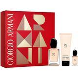 Gaveæsker Giorgio Armani Si Fiori Gift Set EdP 50ml + EdP 7ml + Body Lotion 75ml
