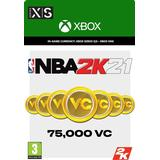 Nba 2k21 Spil tilbehør Microsoft NBA 2K21 75000 VC - Xbox One
