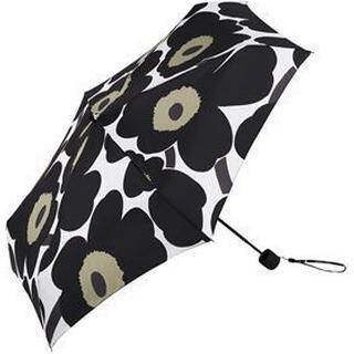 Marimekko Pieni Unikko Mini Umbrella White Black Olive (038654)