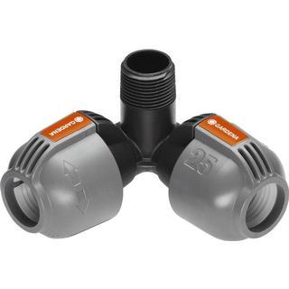 "Gardena Sprinkler System Elbow Male Thread 3/4"""
