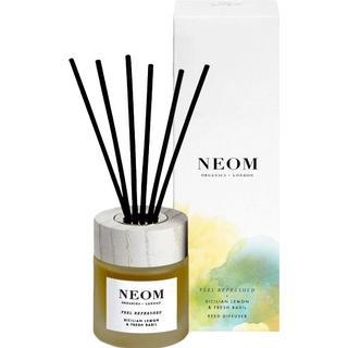 Neom Organics Feel Refreshed Reed Diffuser Sicillian Lemon & Fresh Basil 100ml