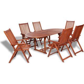 vidaXL 41814 Havemøbelsæt, 1 borde inkl. 6 stole