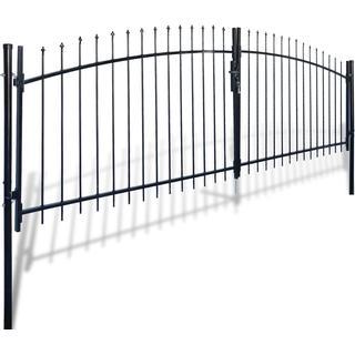 vidaXL Double Door Fence Gate with Spear Top 400x200cm