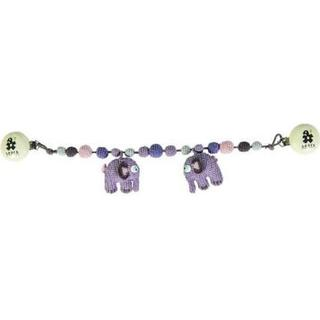 Sebra Hæklet Barnevogn Kæde Elefant Pastel Lil