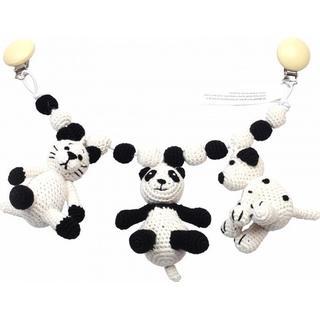 NatureZoo Barnevognskæde Kat, Panda & Hund