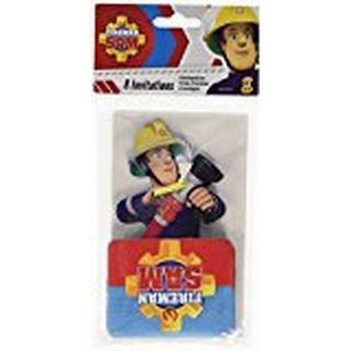 Amscan Fireman Sam Stand Up Invites & Envelopes
