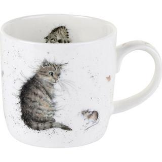 Royal Worcester Wrendale Cat & Mouse Krus 31 cl 8.5 cm