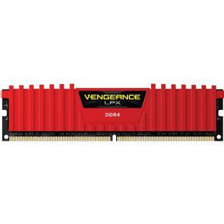 Corsair Vengeance LPX Red DDR4 2400MHz 4GB (CMK4GX4M1A2400C14R)