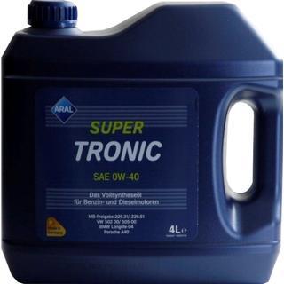 Aral SuperTronic 0W-40 4L Motorolie