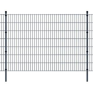 vidaXL 2D Garden Fence Panels & Posts 36mx143cm
