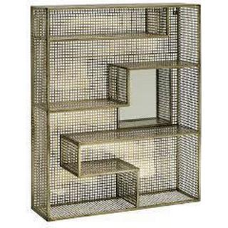Nordal Gold Mirror Shelf Væghylde
