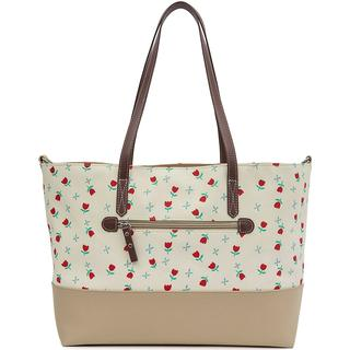 Pink Lining Notting Hill Tote Tulips & Forget Me Nots Changing Bag