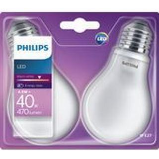 Philips 11cm LED Lamp 4.5W E27 2 Pack
