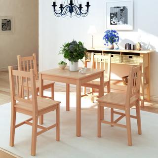 vidaXL 242958 Spisebordssæt Køkkenstol