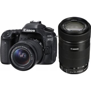 Canon EOS 80D + 18-55mm IS STM + 55-250mm IS STM