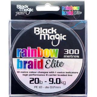 Black Magic Rainbow Braid Elite 0.19mm 300m