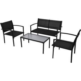 vidaXL 42162 Loungesæt, 1 borde inkl. 2 stole & 1 sofaer