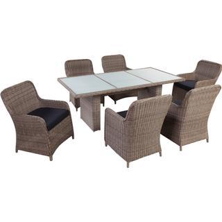vidaXL 41810 Havemøbelsæt, 1 borde inkl. 6 stole