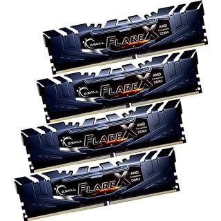 G.Skill Flare X DDR4 2400MHz 4x16GB for AMD (F4-2400C15Q-64GFX)