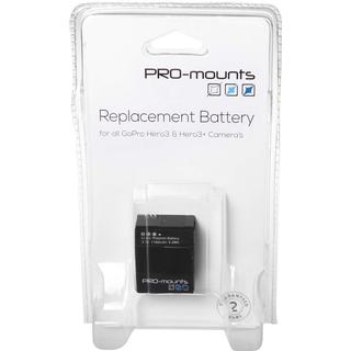 PRO-mounts Replacement Battery Hero3 and 3+