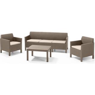 Allibert Orlando 3-seat Sofa Loungesæt, 1 borde inkl. 2 stole & 1 sofaer
