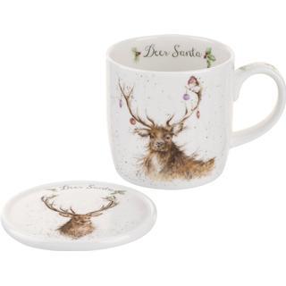 Royal Worcester Wrendale Deer Santa Krus 31 cl