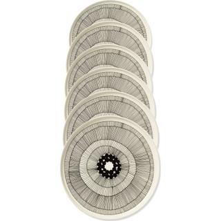 Marimekko Siirtolapuutarha Flad tallerken 25 cm 6 stk