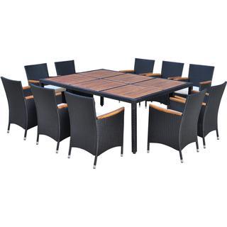 vidaXL 41825 Havemøbelsæt, 1 borde inkl. 10 stole