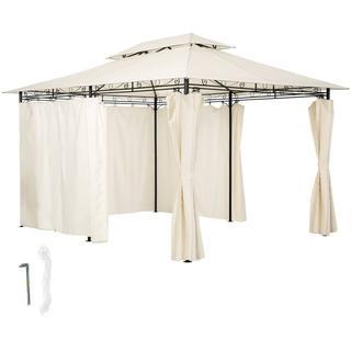 tectake Luksus havepavillon med 6 sider