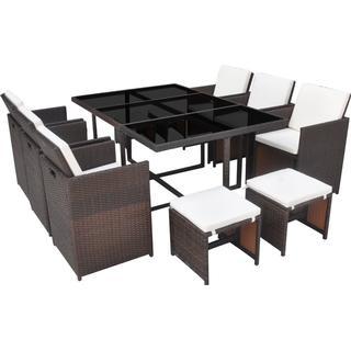 vidaXL 42440 Havemøbelsæt, 1 borde inkl. 6 stole