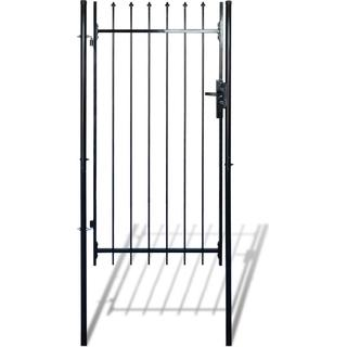 vidaXL Fence Gate with Spear Top 100x150