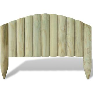 vidaXL Log Panel Lawn Edging with Arched Design 10pcs 55x40cm