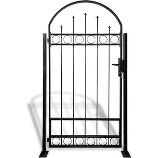 vidaXL Gate Fence with Arched Top and 2 Posts 100x200cm