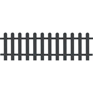 vidaXL WPC Picket Fence 200x60cm