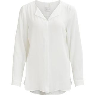 Vila Simple Feminine Shirt - White/Snow White