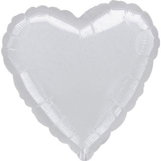 Amscan Latex Ballon Heart Silver