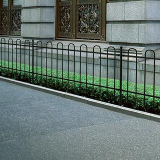 vidaXL Ornamental Security Palisade Fence Steel Black Hoop Top 60mx80cm