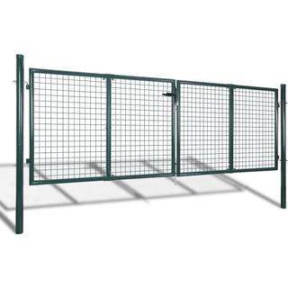 vidaXL Garden Mesh Gate Fence Door Wall Grille 306x125cm