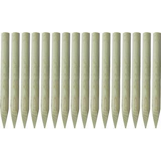 vidaXL Pointed Fence Posts Ø5x100cm 16pcs